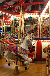 Carnival carousel at night