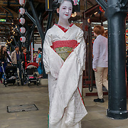 London, England, UK. 14th July 2017. Maiko Henshin as Kitri du Lac attend the Hype Japan 2017 at Tobacco Dock.