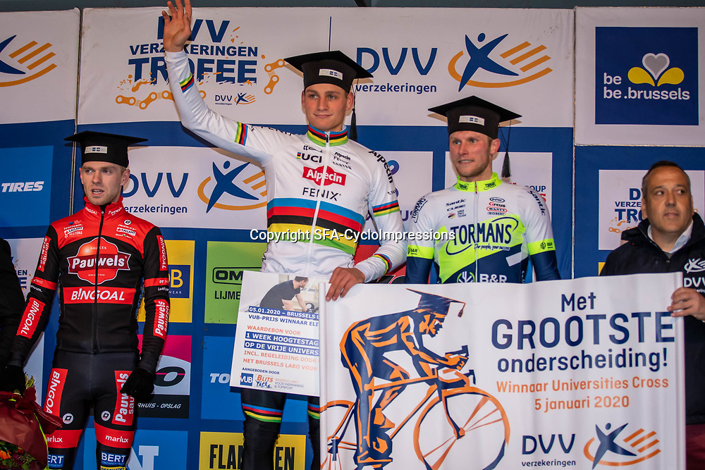 05-01-2020: Wielrennen: DVV veldrijden: Brussel <br />Winst voor Mathieu van der Poel in de cross op de Brussels Universiteites Campus