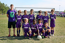 09 April 2016. Hammond, Louisiana.<br /> South Tangi Youth Soccer Association (STYSA), Chappapeela Sports Complex, 30th Annual Strawberry Cup,  <br /> New Orleans Jesters Youth Academy U10 team Purple. <br /> Photo©; Charlie Varley/varleypix.com