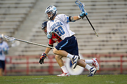 23 April 2010: North Carolina Tar Heels  midfielder Jimmy Dunster (20) during a 13-5 loss to the Maryland Terrapins in the first round of the ACC Tournament at Byrd Stadium in College Park, MD.
