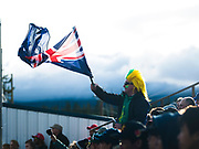 An Australian fan in the crowd during the 2017 Men's World Softball Championship.