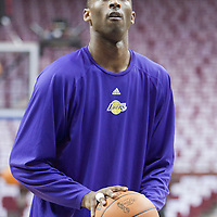 11 June 2009: Kobe Bryant of the Los Angeles Lakers warms up prior to game 4 of the 2009 NBA Finals won 99-91 by the Los Angeles Lakers over the Orlando Magic at Amway Arena, in Orlando, Florida, USA.