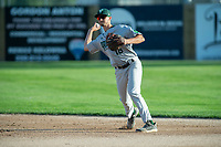 KELOWNA, BC - JULY 24:  Nick DiCarlo #16 of the Yakima Valley Pippins throws the ball against the the Kelowna Falcons at Elks Stadium on July 24, 2019 in Kelowna, Canada. (Photo by Marissa Baecker/Shoot the Breeze)