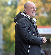 Keith Hill during the Sky Bet League 1 match between Rochdale and Oldham Athletic at Spotland, Rochdale, England on 24 October 2015. Photo by Daniel Youngs.