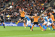 Hull City player Daniel Batty (8) clears ball during the EFL Sky Bet Championship match between Hull City and Blackburn Rovers at the KCOM Stadium, Kingston upon Hull, England on 20 August 2019.