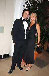 Actress TINA HOBLEY and OLIVER WHEELER and at a charity dinner 'By Imperial Command' - a Chinese New Year Gala Dinner in aid of the charity Kids held at The Banqueting House, Whitehall, London on 8th February 2006.<br />