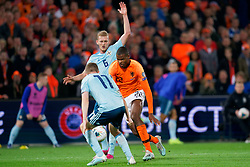 10-10-2019 NED: Netherlands - Northern Ireland, Rotterdam<br /> UEFA Qualifying round ­Group C match between Netherlands and Northern Ireland at De Kuip in Rotterdam / Denzel Dumfries #22 of the Netherlands