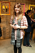IRENE DE LA MORAC, Design Your Own Timberland breakfast and Autumn/ Winter 2011 preview. Timberland. 1 Fournier St. London. Followed by an art tour by Julia Royce. 8 June 2011. <br /> <br />  , -DO NOT ARCHIVE-© Copyright Photograph by Dafydd Jones. 248 Clapham Rd. London SW9 0PZ. Tel 0207 820 0771. www.dafjones.com.