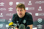 Heart of Midlothian manager Daniel Stendel during the Heart of Midlothian pre-match press conference ahead of the Scottish Premiership match against Motherwell, at Oriam Sports Performance Centre, Riccarton, Scotland on 5 March 2020.