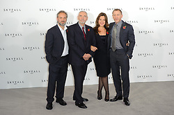 Sam Mendes, Michael G. Wilson, Barbara Broccoli and Daniel Craig pose for photographers at the photocall for the 23rd James Bond movie 'Skyfall', London, Thursday November 3, 2011. Photo By i-Images