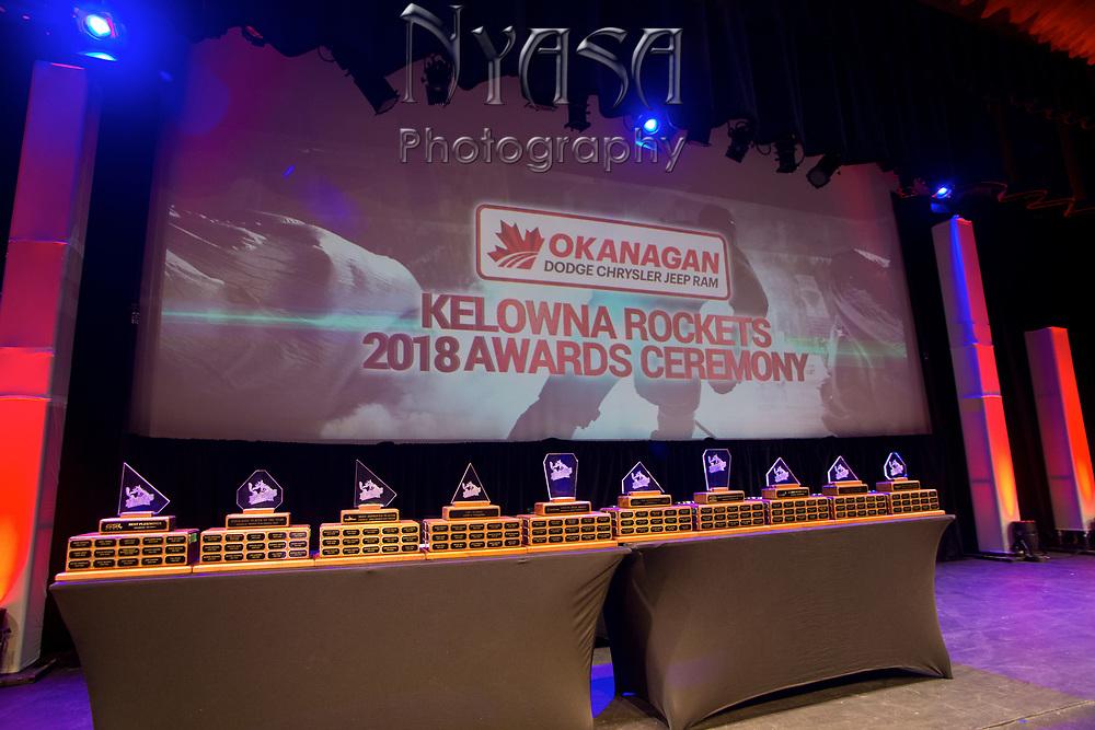 KELOWNA, CANADA - MARCH 18:  at the Kelowna Rockets Awards Ceremony on March 18, 2018 at The Kelowna Community Theatre  in Kelowna, British Columbia, Canada.  (Photo By Cindy Rogers/Nyasa Photography,  *** Local Caption ***