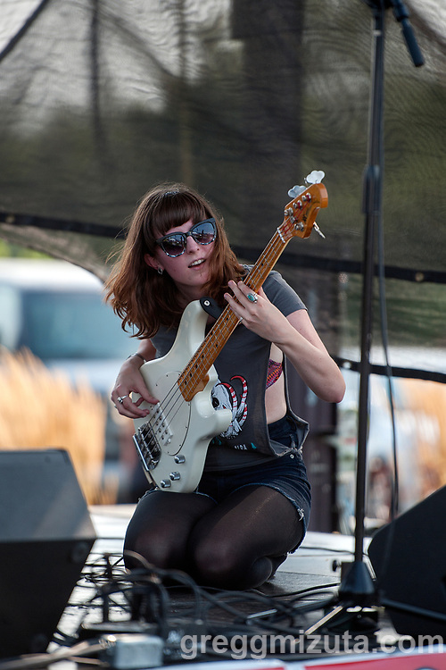 Marshall Poole's Melanie Radford performs at Music on the Water at Esther Simplot Park in Boise, Idaho on August 19, 2017.<br /> <br /> Marshall Poole members:  Melanie Radford (vox, bass), Rider Soran (vox, lead guitar), Michael Hoobery (percussion), and Seth Graham (keyboards, rhythm guitar).<br /> <br /> Current location: Boise, Idaho