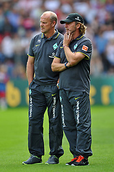 14.08.2010, Wersestadion, Ahlen, GER, Rot Weiss Ahlen vs Werder Bremen 0:4, DFB Pokal 1. Runde,  1. FBL 2010, im Bild Thomas Schaaf ( Werder  - Trainer  COACH ) - Wolfgang Rolff ( Werder  - Co - Trainer ). EXPA Pictures © 2010, PhotoCredit: EXPA/ nph/  Kurth+++++ ATTENTION - OUT OF GER +++++ / SPORTIDA PHOTO AGENCY