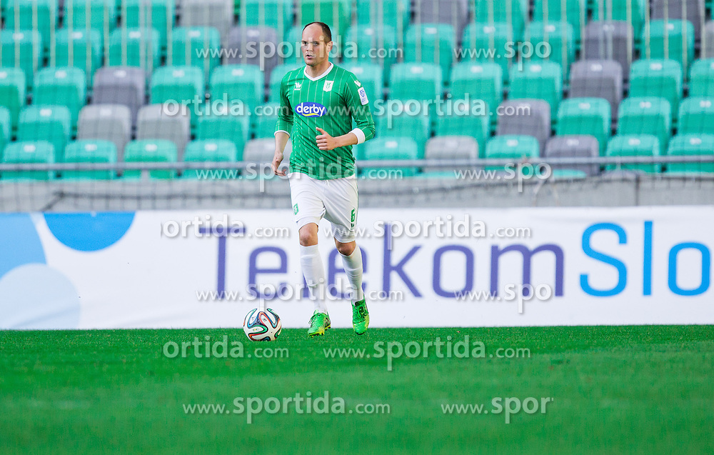 Aris Zarifovic #6 of Olimpija during football game between NK Olimpija Ljubljana and ND Triglav Kranj in 24th Round of Prva liga Telekom Slovenije 2013/14, on March 29, 2014 in SRC Stozice, Ljubljana, Slovenia. Photo by Vid Ponikvar / Sportida