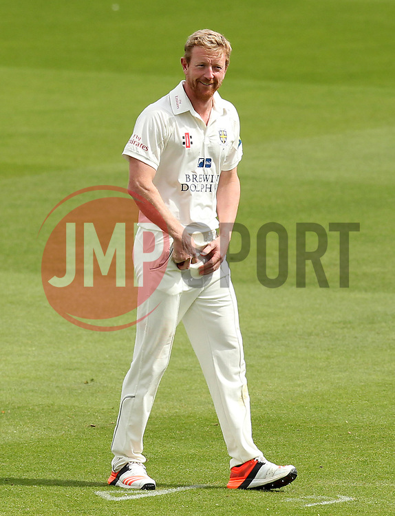 Durham's Paul Collingwood smiles - Photo mandatory by-line: Robbie Stephenson/JMP - Mobile: 07966 386802 - 03/05/2015 - SPORT - Football - London - Lords  - Middlesex CCC v Durham CCC - County Championship Division One
