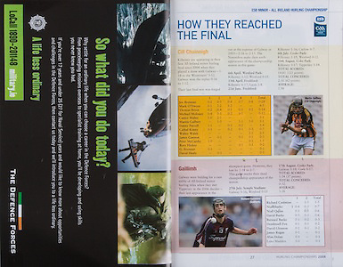 All Ireland Senior Hurling Championship Final, .07092008AISHCF,.07.09.2008, 09.07.2008, 7th September 2008,.Kilkenny 3-30, Waterford 1-13,.Minor Kilkenny 3-6, Galway 0-13,.The Defence Forces,