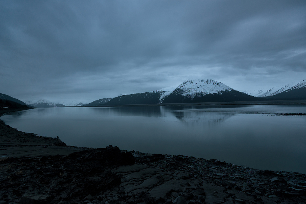 The Turnagain Arm of the Cook Inlet just before the tidal turn.