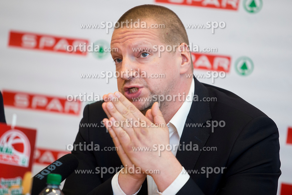 Matej Erjavc, president of KZS at press conference before Finals of Spar Cup 2018, on January 31, 2018 in Ljubljana, Slovenia. Photo by Urban Urbanc / Sportida