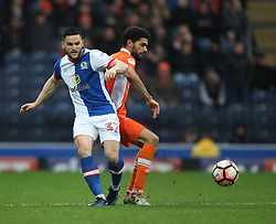 Craig Conway of Blackburn Rovers (L) and Kelvin Mellor of Blackpool in action - Mandatory by-line: Jack Phillips/JMP - 28/01/2017 - FOOTBALL - Ewood Park - Blackburn, England - Blackburn Rovers v Blackpool - FA Cup Fourth Round