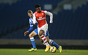 CHUBA AKPOM during the Barclays U21 Premier League match between Brighton U21 and Arsenal U21 at the American Express Community Stadium, Brighton and Hove, England on 1 December 2014.