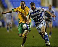 Reading - Saturday December 13th, 2008: Chris Armstrong of Reading in action against Lee Croft of Norwich City during the Coca Cola Championship match at The Madjeski Stadium, Reading. (Pic by Alex Broadway/Focus Images)