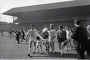 Cork player celebrates win along with Sligo players after the All Ireland Minor Gaelic Football Final Sligo v. Cork in Croke Park on the 22nd September 1968. Cork 3-5, Sligo 1-10.