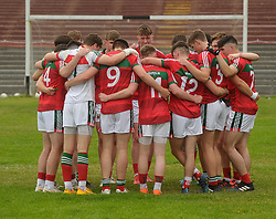 Mayo U20&rsquo;s before the game against Leitrim.<br />