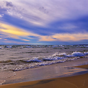 &quot;Watching the Sunset&quot;<br /> <br /> Beautiful and peaceful sunset on the shores of Lake Michigan in the Upper Peninsula!!