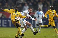 Fotball<br /> Frankrike 2004/05<br /> Olympique Marseille v Nantes<br /> 27. november 2004<br /> Foto: Digitalsport<br /> NORWAY ONLY <br /> EMERSE  FAE (NAN) / SERGIO KOKE (OM)