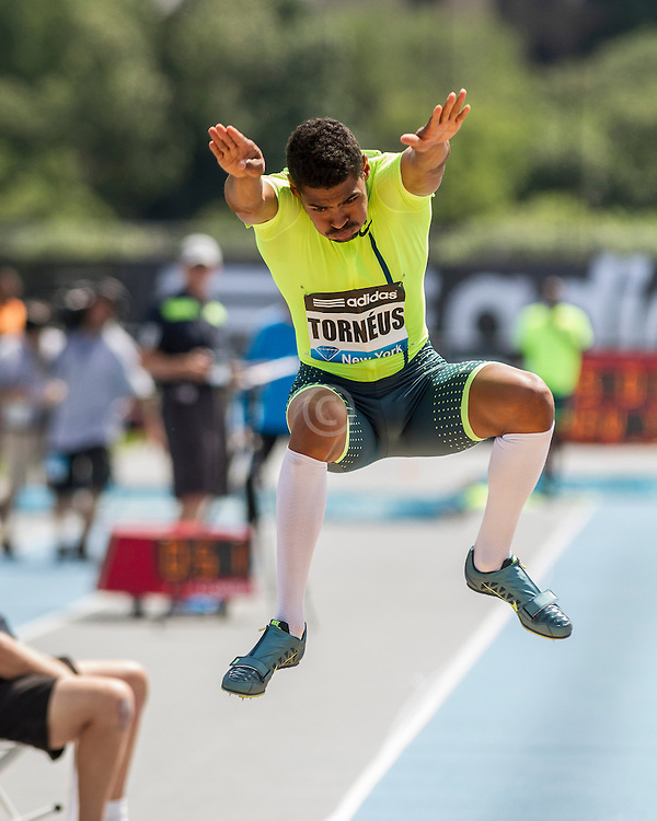 Michel Torneus, Sweden, men's long jump, adidas Grand Prix Diamond League track and field meet