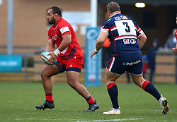 Sione Faletau of Bristol Rugby runs with the ball - Mandatory by-line: Robbie Stephenson/JMP - 13/01/2018 - RUGBY - Castle Park - Doncaster, England - Doncaster Knights v Bristol Rugby - B&I Cup