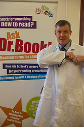 Pictured: Willie Rennie visited the surgery of Dr Book during his visit and picked up a reading prescription<br /> <br /> Scottish Liberal Democrat leader Willie Rennie  set out plans for a digital revolution in the way that children learn at schools during a visit to the Edinburgh Science Festival at Summerhall, Edinburgh, today <br /> <br /> Ger Harley | EEm 6 April 2016