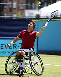 Gordon Reid during day five of the Fever-Tree Championship at the Queen's Club, London.