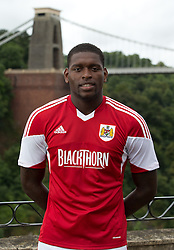 Jay Emmanuel-Thomas of Bristol City - Photo mandatory by-line: Kieran McManus/JMP - Tel: Mobile: 07966 386802 31/07/2013 - SPORT - FOOTBALL - Avon Gorge Hotel - Clifton Suspension bridge - Bristol -  Team Photo