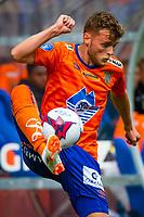 1. divisjon fotball 2018: Aalesund - Åsane (1-0). Aalesunds Adam Örn Arnarson i kampen i 1. divisjon i fotball mellom Aalesund og Åsane på Color Line Stadion.