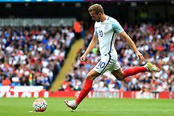 Harry Kane of England takes a free kick - Mandatory byline: Matt McNulty/JMP - 07966386802 - 22/05/2016 - FOOTBALL - Etihad Stadium -Manchester,England - England v Turkey - International Friendly