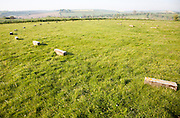 The Sanctuary megalithic henge site at East Kennett, Wiltshire, England