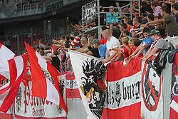 11.08.2010, Wörthersee Stadion, Klagenfurt, AUT, Testspiel, Oesterreich (AUT) vs Schweiz (SUI), im Bild Feature mit Fahnen und Fans, EXPA Pictures © 2010, PhotoCredit: EXPA/ D. Scharinger / SPORTIDA PHOTO AGENCY