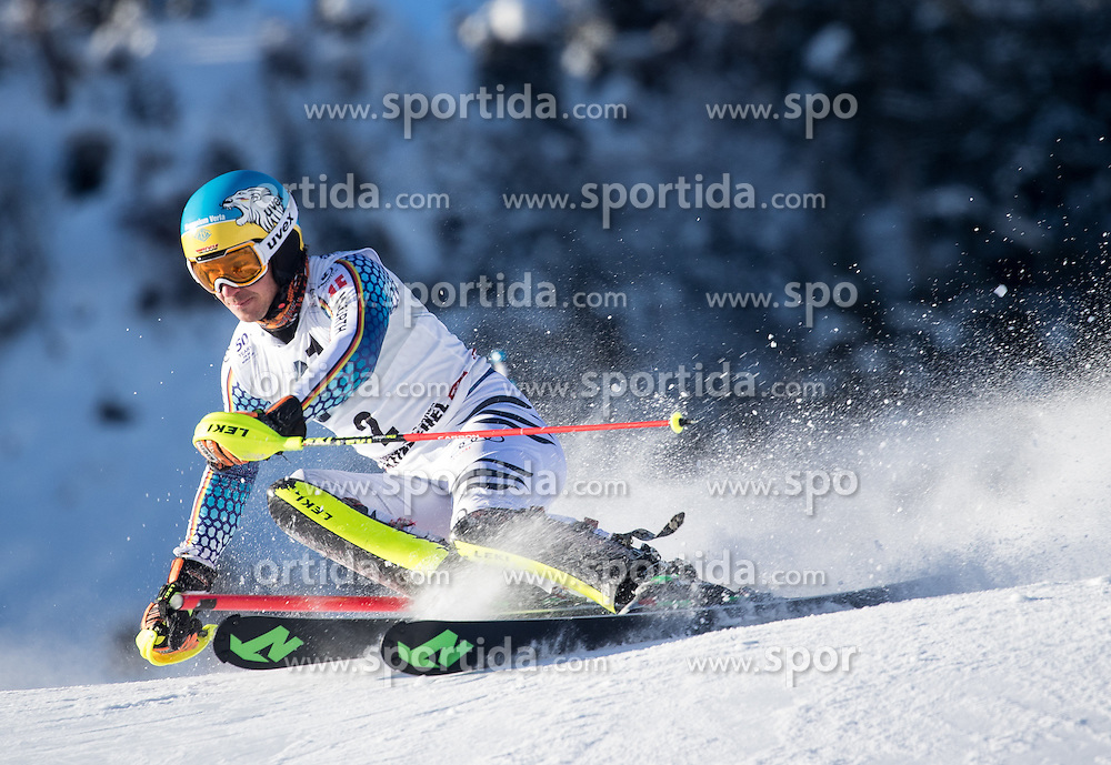 22.01.2017, Hahnenkamm, Kitzbühel, AUT, FIS Weltcup Ski Alpin, Kitzbuehel, Slalom, Herren, 1. Lauf, im Bild Felix Neureuther (GER) // Felix Neureuther of Germany in action during his 1st run of men's Slalom of FIS ski alpine world cup at the Hahnenkamm in Kitzbühel, Austria on 2017/01/22. EXPA Pictures © 2017, PhotoCredit: EXPA/ Johann Groder