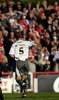 Photo: Daniel Hambury.<br />Brentford v Bristol City. Coca Cola League 1. 07/10/2006.<br />Bristol City's Jamie McCombe celebrates his goal.