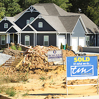 New home construction in Tupelo on Lake Circle Drive on Thursday morning.
