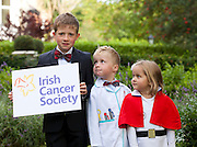 Repro Free: 17/09/2012.Oran O'Hagan (8), Fionn O'Hagan (5) and Sophie McElwain (4) are pictured as the Irish Cancer Society today announced that it has taken a major step forward to deliver its vision for cancer research in Ireland, by allocating ?7.5 million in funding to establish a Collaborative Cancer Research Centre in Ireland. This equates to ?1.5 million in funding being allocated per year, for up to five years. Pic Andres Poveda.