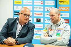 Iztok Klancnik and Miha Verdnik during press conference of Slovenian Alpine Ski team and coaching team for new season 2019/20, on May 6th, 2019, in SZS, Ljubljana, Slovenia. Photo by Vid Ponikvar / Sportida