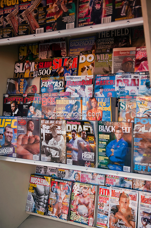 Magazine Rack, Hollywood, Boulevard,  Hollywood, CA ,Vertical image