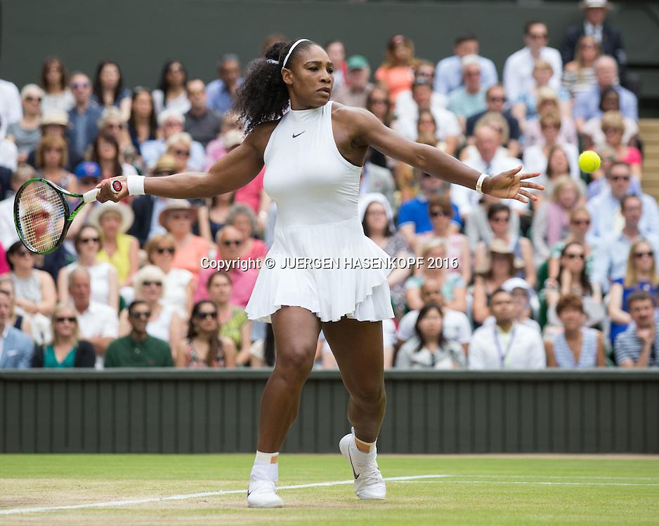 SERENA WILLIAMS (USA), Damen Endspiel, Finale <br /> <br /> Tennis - Wimbledon 2016 - Grand Slam ITF / ATP / WTA -  AELTC - London -  - Great Britain  - 9 July 2016.