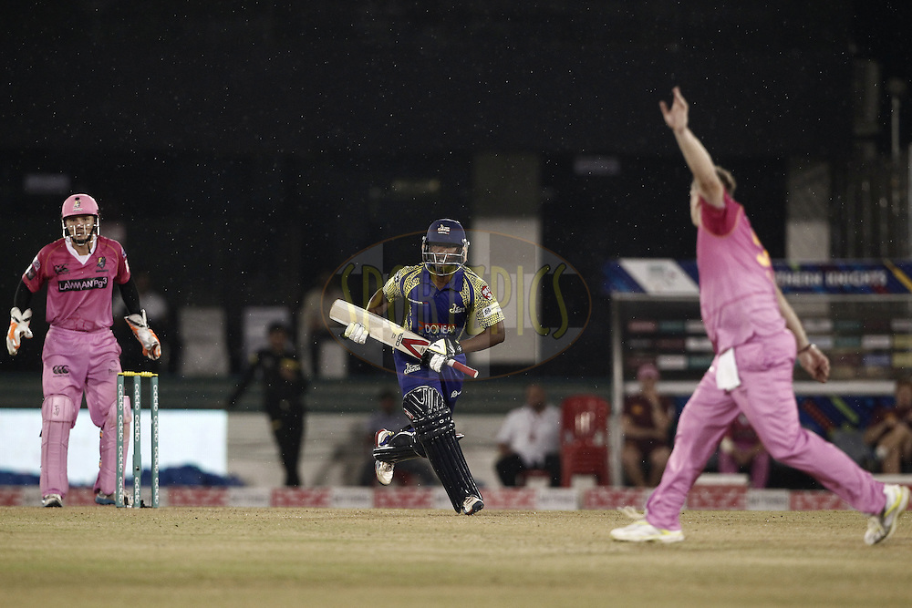 Omphile Ramela of Cape Cobras bats  during match 3 of the Oppo Champions League Twenty20 between the Cape Cobras and the Northern Knights held at the Chhattisgarh International Cricket Stadium, Raipur, India on the 19th September 2014<br /> <br /> Photo by:  Deepak Malik / Sportzpics/ CLT20<br /> <br /> <br /> Image use is subject to the terms and conditions as laid out by the BCCI/ CLT20.  The terms and conditions can be downloaded here:<br /> <br /> http://sportzpics.photoshelter.com/gallery/CLT20-Image-Terms-and-Conditions-2014/G0000IfNJn535VPU/C0000QhhKadWcjYs