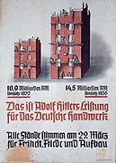 Poster showing improved output of construction in Germany under Hitler's government, c1936.