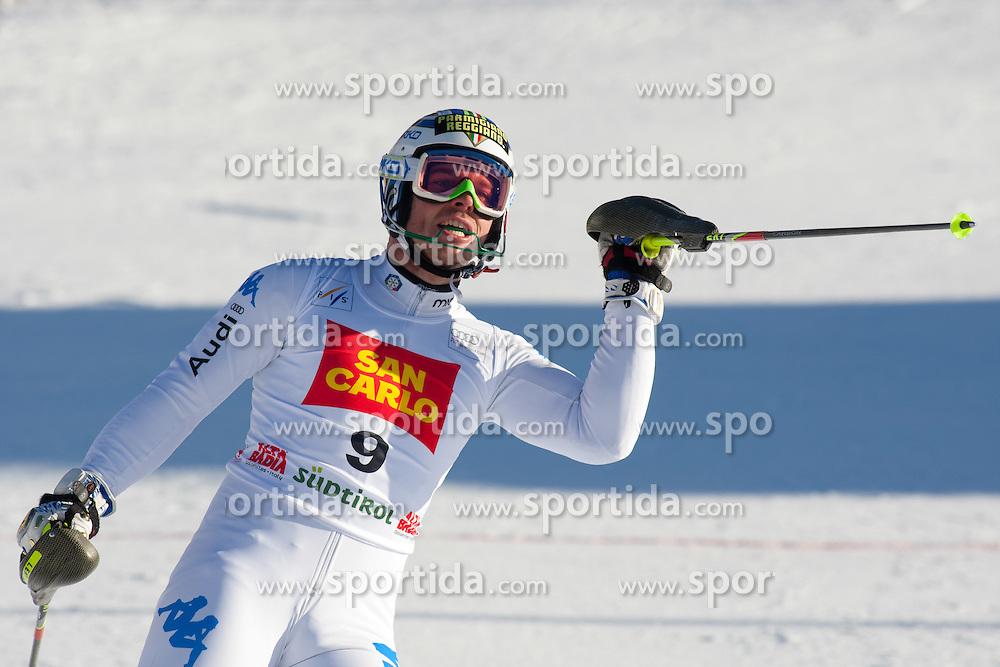 19.12.2011, Gran Risa, Alta Badia, ITA, FIS Weltcup Ski Alpin, Herren, Slalom, im Bild Giuliano Razzoli (ITA) nach dem 2. Durchgang // Giuliano Razzoli of Italy reacts after his 2nd run during men's Slalom at FIS Ski Alpine Worldcup at Gran Risa in Alta Badia, Italy on 2011/12/19. EXPA Pictures © 2011, PhotoCredit: EXPA/ Johann Groder