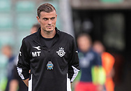 Assistenttræner Mikkel Thygesen (FC Helsingør) under opvarmning til kampen i Sydbank Pokalen, 1. runde,  mellem AB og FC Helsingør den 6. august 2019 på Gladsaxe Stadion (Foto: Claus Birch).